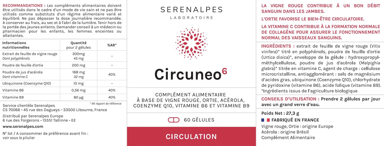 Serenalpes - Laboratoire - Etiquette Circuneo 6 jpeg