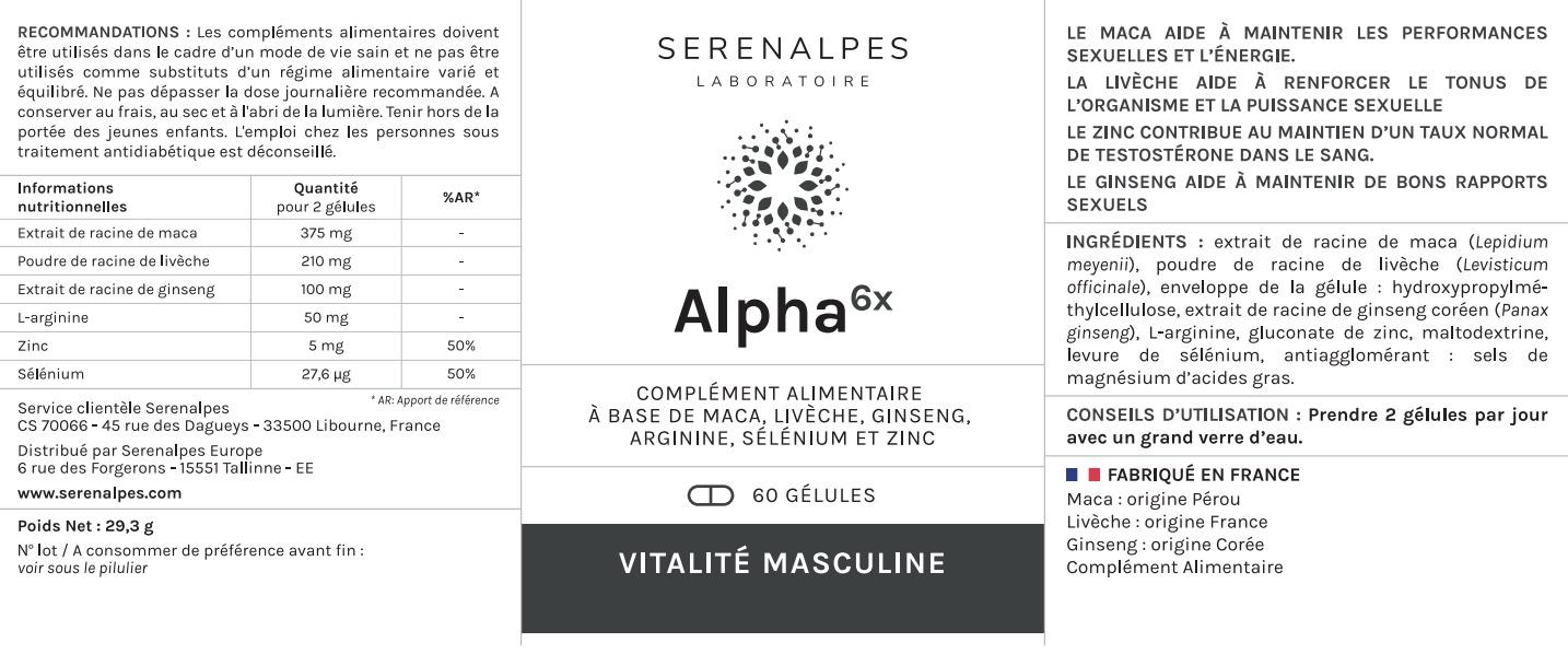 Serenalpes - Laboratoire - etiquette ALA jpeg